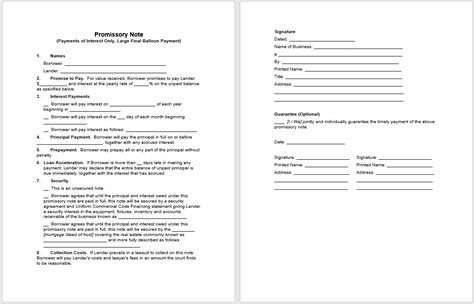 43 Free Promissory Note Sles Templates Ms Word And Pdfs Free Promissory Note Template Word
