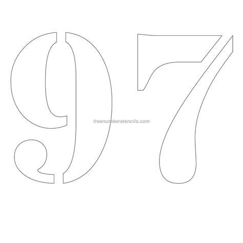 printable 12 inch number stencils free 12 inch 97 number stencil freenumberstencils com