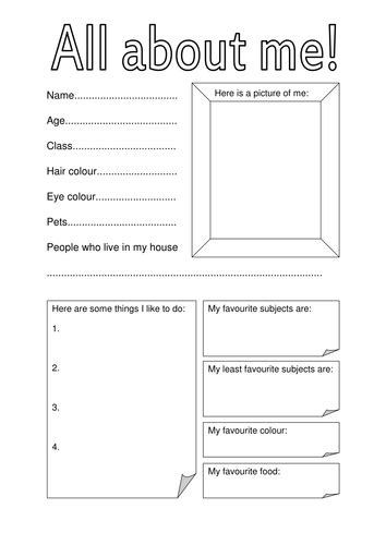 fact file template on a person all about me fact file for day of term by hannahw2