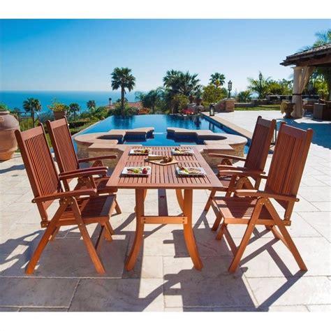 5 wood patio dining set v189set4