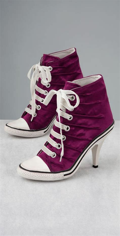 converse all high heels fashion and trend converse high heels sneakers