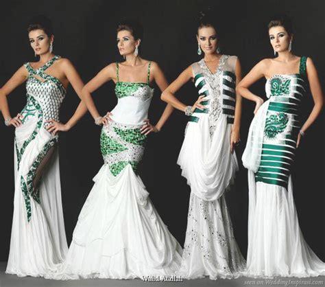 white and green wedding dresses bintou s white and green wedding dresses give the