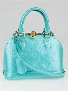 Bb Bag louis vuitton bleu lagon monogram vernis alma bb bag yoogi s closet