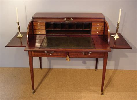 Georgian mahogany tambour desk   Bureau and Secretaire