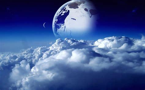download wallpaper awan hd sci fi awan ruang alam langit planet bulan mimpi bintang
