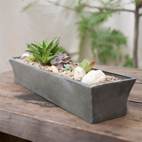 windowsill planter indoor zinc windowsill trough terrain