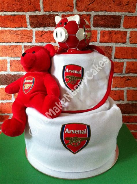 arsenal gifts arsenal fc 2 tier football nappy cake baby gift arsenal