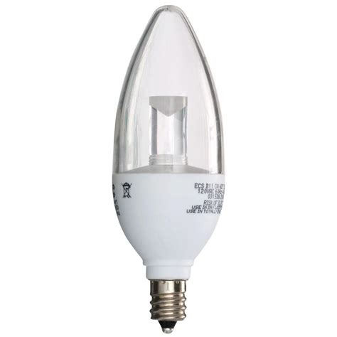 Clear Led Light Bulbs Ecosmart 25w Equivalent Soft White 2700k B11 Clear Blunt Tip Decorative Dimmable Led Light