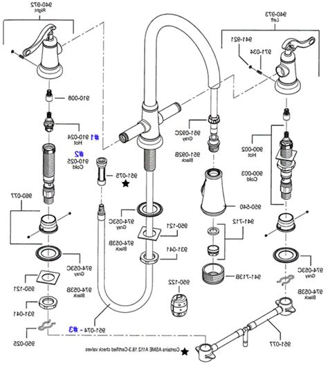 price pfister kitchen faucet parts diagram old replacement