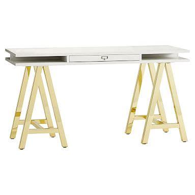 desk with gold legs desk archives stylish rev