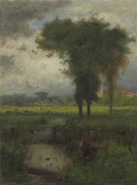 Landscape Artist George Crossword George Inness American 1825 1894 Summer Montclair
