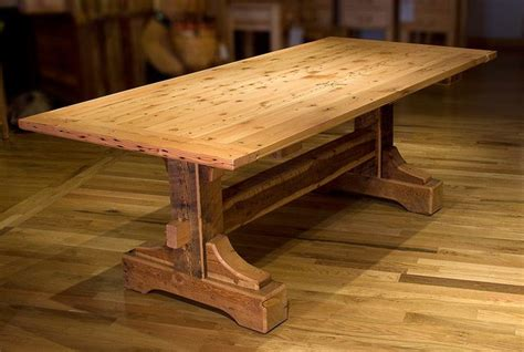 barnwood dining room tables repurposed barn wood dining table for the home pinterest