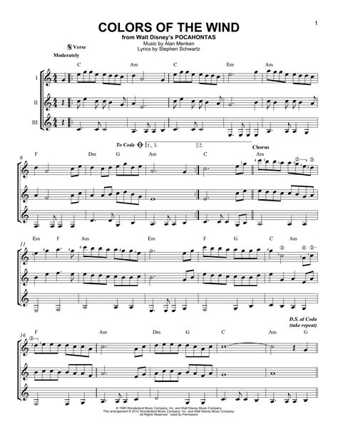 colors of the wind violin sheet colors of the wind sheet by alan menken stephen