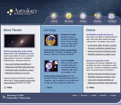 templates for astrology website astrology swish template 11936