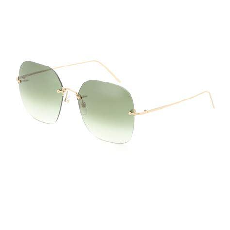 Rimless Square Sunglasses lyst beckham rimless square sunglasses in green