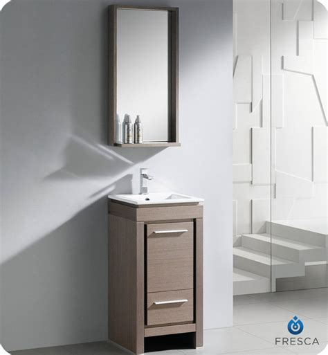 grey oak bathroom vanity fresca 16 quot allier small modern bathroom vanity grey oak finish