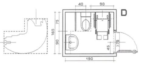 misure bagno minimo superabile inail bagni con spazi minimi soluzione d