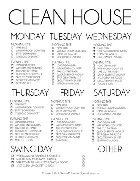 house cleaning tips and yes this is serious cleaning checklist