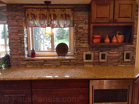 backsplash panels kitchen brick veneer creative faux panels