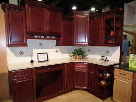 awesome varnished wood flooring in white kitchen themed l shaped brown varnished wooden cherry kitchen cabinet