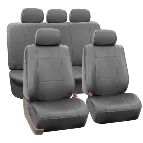 auto bench seat covers pu leather auto seat covers full set air bag safe split