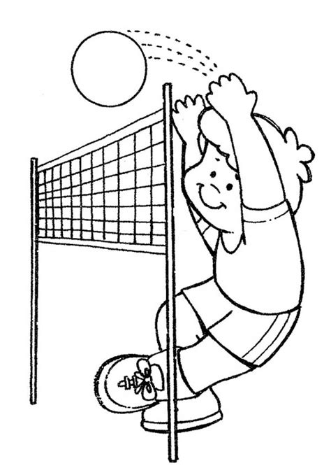 coloring pages volleyball girl volley ball coloring pages