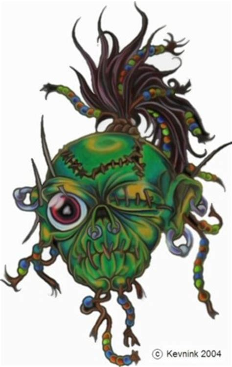 shrunkin head tattoo shrunken by kevnk on deviantart