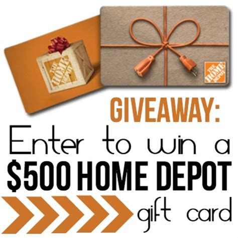Home Depot Giveaway - 500 home depot giveaway classy clutter