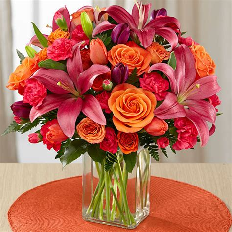 Floral Bouquets by Always True Bouquet Orange Tulips Pink Tulips Pink