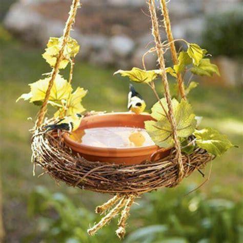 hanging bird bath crafts pinterest