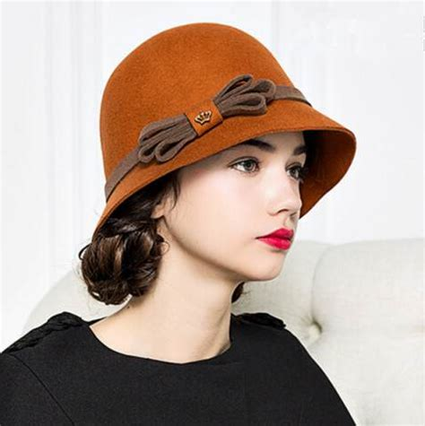 Bow Cloche Hat bow cloche hat for winter fashion wool felt