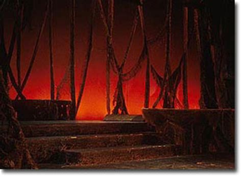 jim thurston design for the stage into the woodsset and