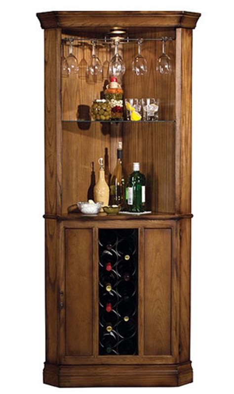 corner wine cabinets howard miller oak cellars corner wine cabinet decanters