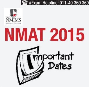 Nmat Mba by Nmat 2015 Important Dates Announced Check Here