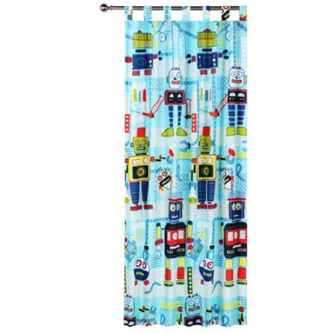 robot curtains glow in the dark robot workshop tab top curtains online