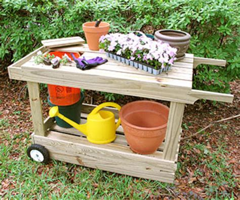 potting bench on wheels 65 diy potting bench plans completely free