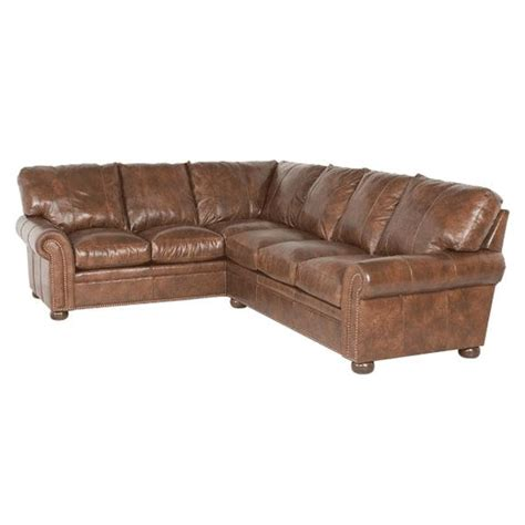 classic leather sectional classic leather easton sectional 11514 leather sectional