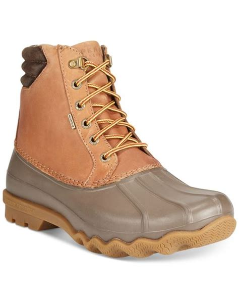 mens duck boots sale sperry top sider s avenue duck boots in brown for