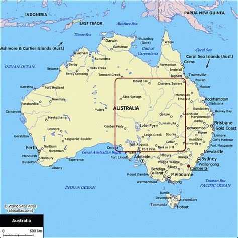 astrelia map map of australia australian maps for your trip planning