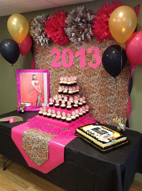 hot pink themes hot pink gold black and leopard print graduation end of