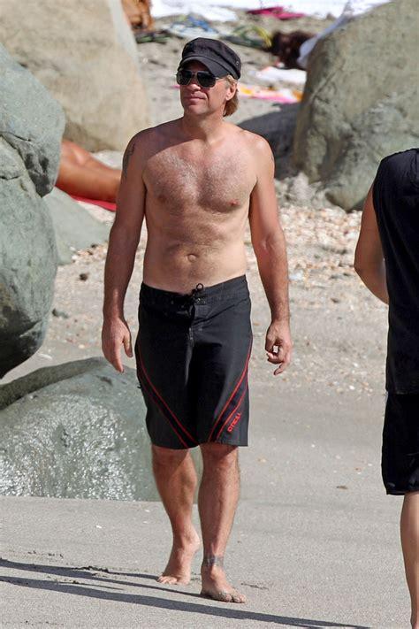 Shirtless Jon Bon Jovi Still At 45 jon bon jovi photos photos jon bon jovi goes shirtless