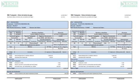 Boletas De Pago Planilla De Remuneraciones Excel Negocios | boletas de pago planilla de remuneraciones excel negocios