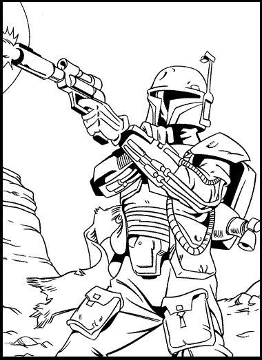 boba fett coloring pages boba fett bounty coloring picture for