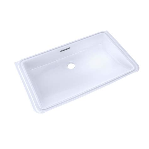 toto undermount bathroom sink toto 21 in rectangular undermount bathroom sink with