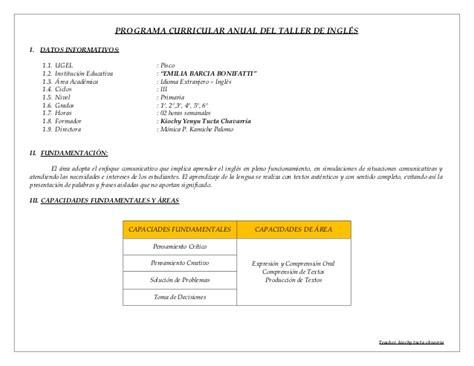 programacion anual 4to grado 2016 primaria programacion anual 2014 de 4 grado de primaria con rutas