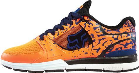 fox racing mens orange navy blue motion concept
