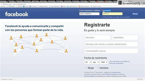 facebook en espanol registrarse facebook iniciar sesin facebook iniciar sesi 243 n youtube