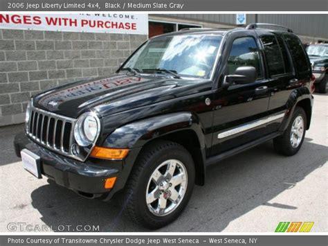 2006 Jeep Liberty Limited Black 2006 Jeep Liberty Limited 4x4 Medium Slate Gray