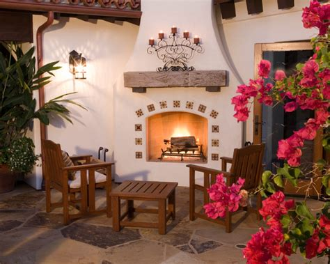 spanish designs spanish style outdoor fireplace beautiful homes design