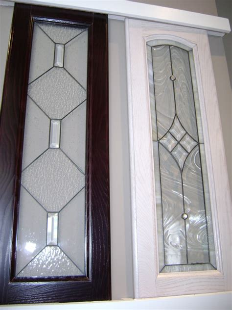 Leaded Glass Kitchen Cabinet Doors by Kitchen Cabinet Stained Glass Applications Eclectic